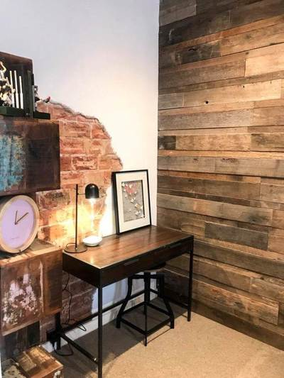 Timber Feature Wall On House Rules Mel And Dave