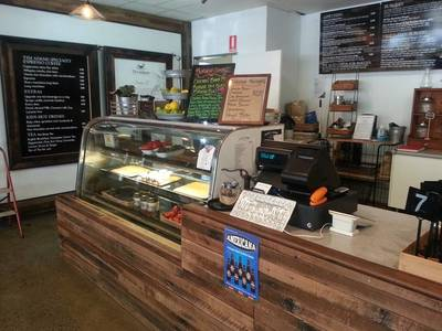 Cafe fit out on the Sunshine Coast Queensland QLD using reclaimed, recycled Australian Hardwood by Northern Rivers Recycled Timber.