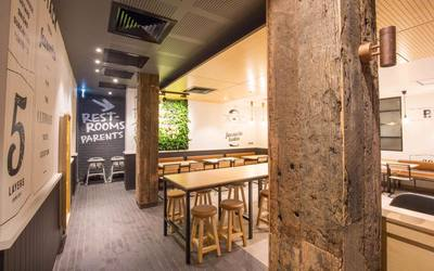 McDonalds Fast food fit out using reclaimed, recycled Australian Hardwood in Singleton NSW by Northern Rivers Recycled Timber