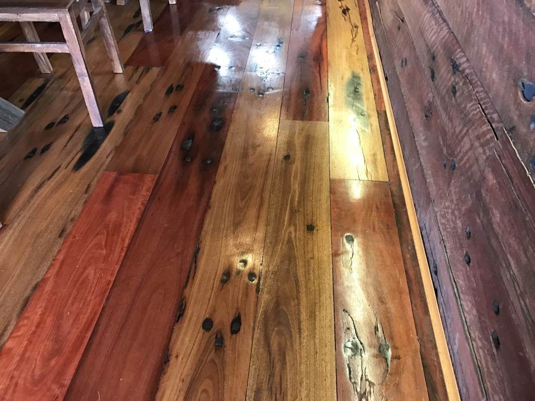 RAILWAY SLEEPER FLOORING